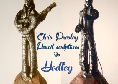 Hedley Wiggan: Elvis Presley Pencil Sculpture
