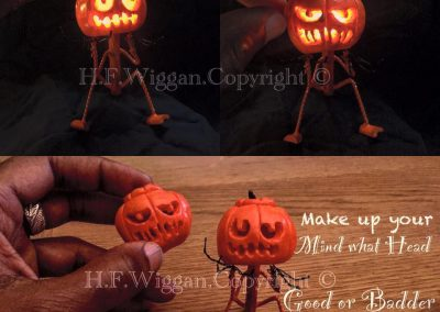 Mini Pumpkin Patch Sculptures by Hedley Wiggan