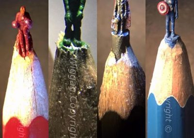 Avengers Pencil Sculptures by Hedley Wiggan