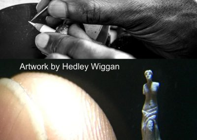 Venus De Milo sculpture on white pencil by Hedley Wiggan